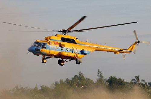 Một chiếc máy bay trực thăng Mi 171 cùng loại với chiếc trực thăng bị rơi ở Hòa Lạc - Ảnh minh họa
