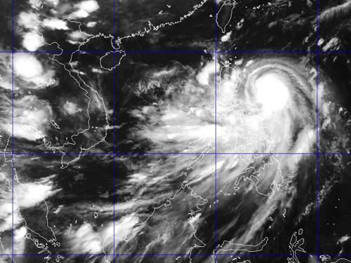 Ảnh chụp mây vệ tinh bão Kalmaegi - Nguồn: Trung tâm Dự báo khí tượng thủy văn Trung ương