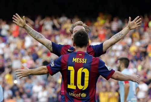 Ivan Rakitic và Messi cùng lập công