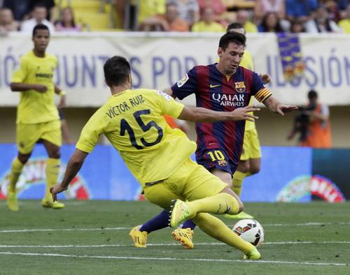 Thủ quân Messi gây khó cho hàng thủ tàu ngầm vàng Villareal