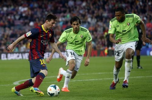 Messi tỏa sáng trong đêm Nou Camp trước Osasuna