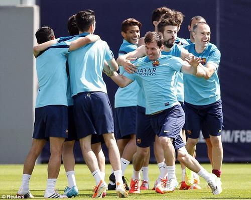 Messi hạnh phúc trong màu áo Barca