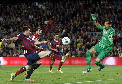 Messi thi đấu rất hay trước khi ghi bàn ấn định chiến thắng 2-1 cho Barca