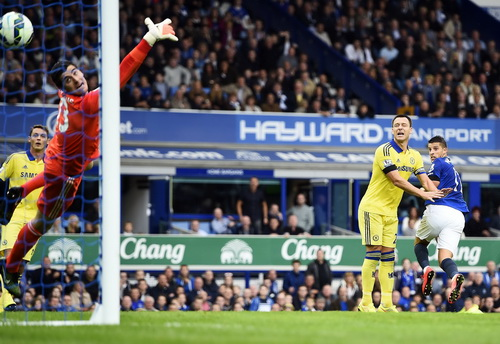 Những tình huống đáp trả như pha ghi bàn của Mirallas (phải) quá ít với Everton