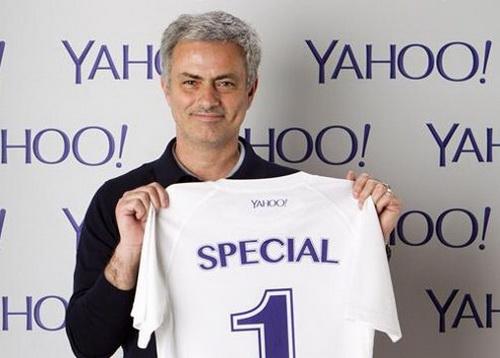 Mourinho và chiếc áo số 1 của Yahoo