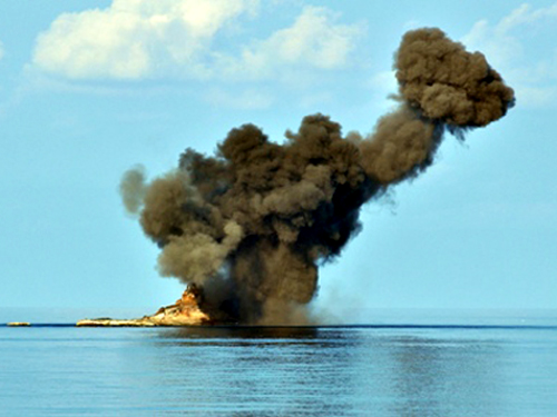 Mục tiêu trên biển bị tiêu diệt