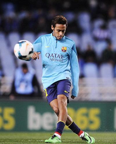 Neymar trong màu áo Barcelona