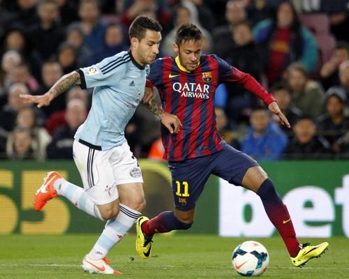 Neymar ghi cú đúp cho Barcelona trong chiến thắng 3-0 trước Celta Vigo