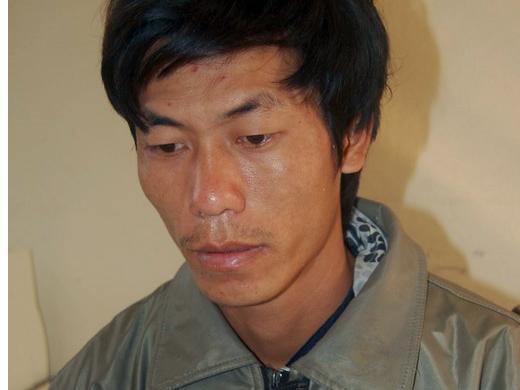 Nghi phạm Nguyễn Đình Thống tại cơ quan công an - Ảnh: CTV