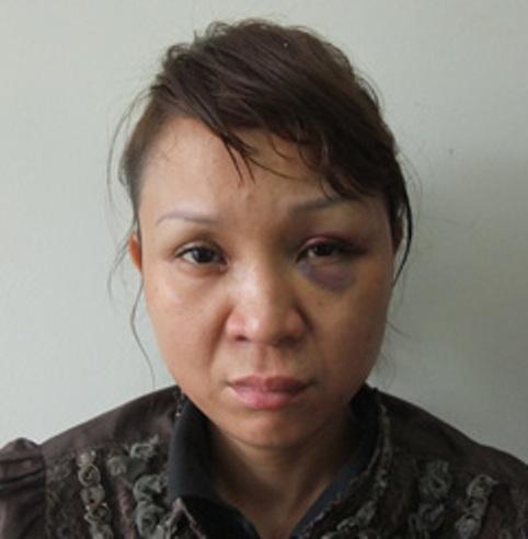 Nguyễn Hoài Thanh sau khi bị bắt giữ tại cơ quan công an
