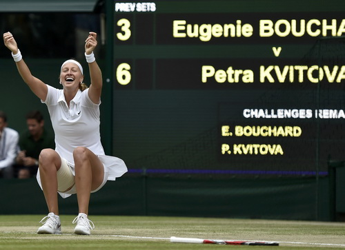 Niềm vui chiến thắng của Petra Kvitova
