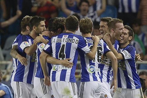 Sociedad mừng chiến thắng thuyết phục trước Real Madrid