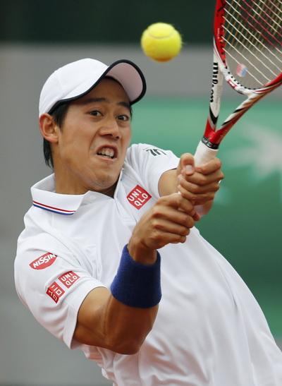Kei Nishikori trở lại sau các cú sốc trên mặt sân đất nện