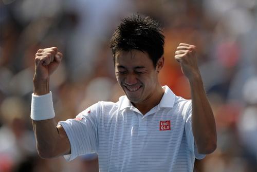 Hình ảnh quen thuộc của Nishikori tại giải Mỹ mở rộng 2014