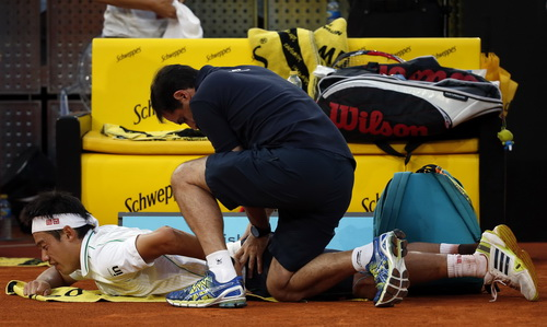 Nishikori chấn thương, phải rút lui khỏi Rome Open