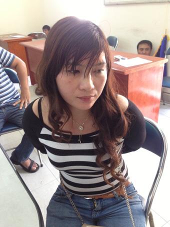 Bà Phan Thị Hiền khi bị bắt,