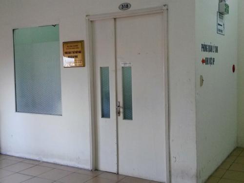 Bên ngoài phòng làm việc của bà Phạm Thanh Hương - Ảnh: Trọng Đức