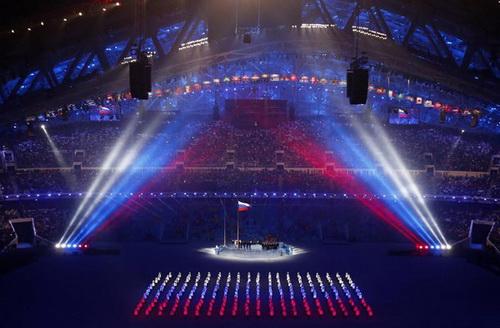 Tạo hình quốc kỳ Nga khổng lồ