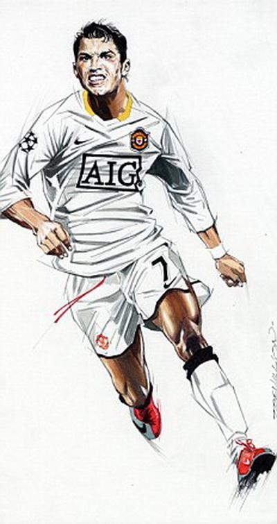 Ronaldo khi còn thi đấu cho M.U