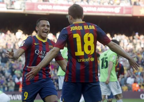 Sanchez đã có những mùa giải thành công ở Barcelona sau khi rời Serie A