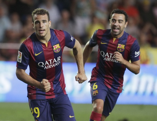 Cầu thủ trẻ Sandro Ramirez (29) lập công cho Barcelona