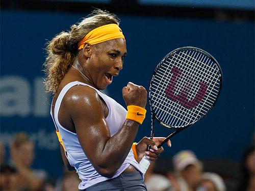 Serena sau chiến thắng trước Sharapova tối 3-1  Ảnh: REUTERS