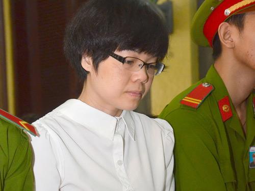 Huỳnh Thị Huyền Như tại phiên tòa sơ thẩm diễn ra tháng 1-2014