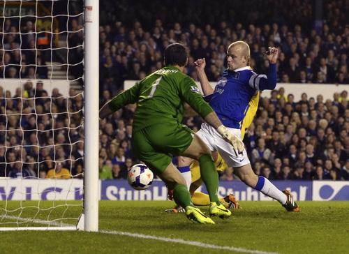Steven Naismith rút ngắn cách biệt cho Everton