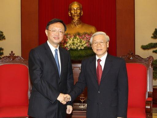 Tổng Bí thư Nguyễn Phú Trọng tiếp Ủy viên Quốc vụ Trung Quốc Dương Khiết Trì