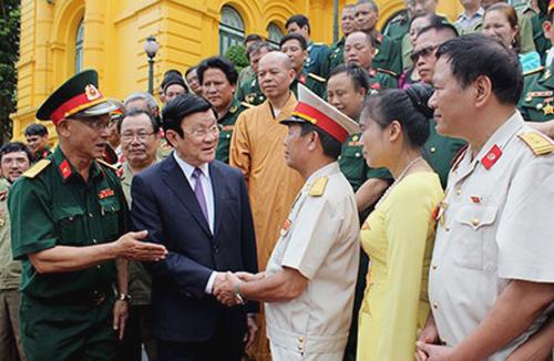 Chủ tịch nước Trương Tấn Sang: Các chiến sĩ Sư đoàn 356 với tinh thần dũng cảm, gan dạ đã nêu cao chính nghĩa của Việt Nam, giữ vững chủ quyền thiêng liêng của Tổ quốc