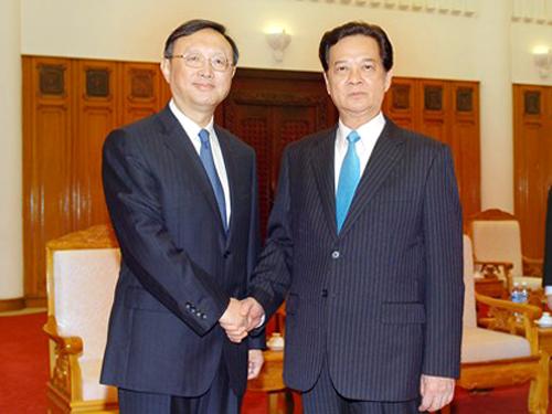 Tiếp ông Dương Khiết Trì, Thủ tướng Nguyễn Tấn Dũng yêu cầu Trung Quốc rút giàn khoan 981 và tàu khỏi vùng biển của Việt Nam