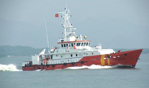 Tàu SAR 413 điều phối hoạt động tìm kiếm trên mặt biển