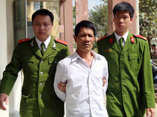 Vũ Đình Tuệ sau khi bị bắt tại cơ quan công an
