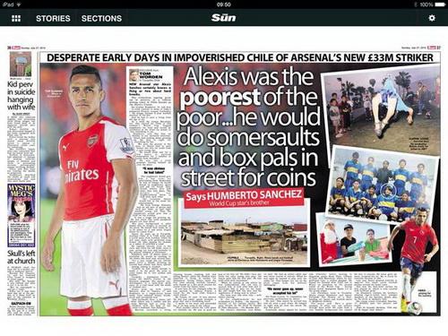 Nhật báo The Sun viết về tuổi thơ của Alexis