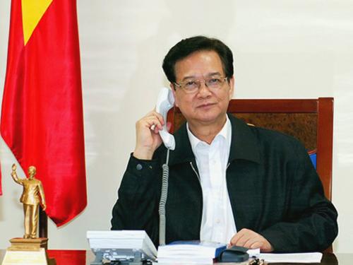 Thủ tướng Nguyễn Tấn Dũng trao đổi qua điện thoại với ông Denis McDonough, Chánh Văn phòng Nhà Trắng