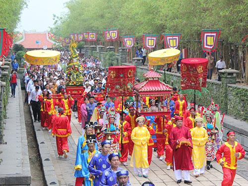 Lễ dâng cúng Giỗ Tổ Hùng Vương tại Khu Tưởng niệm các vua Hùng
