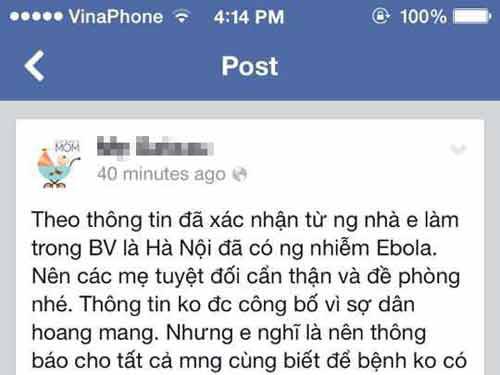 Tin đồn dịch bệnh Ebola xuất hiện ở Hà Nội gây hoang mang, lo lắng