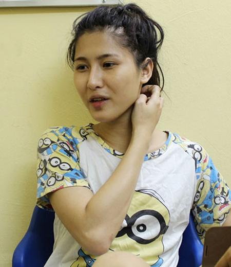 Nguyễn Văn Hiếu, tức Hot girl Trâm Anh, lúc mới bị bắt về hành vi mua bán ma túy