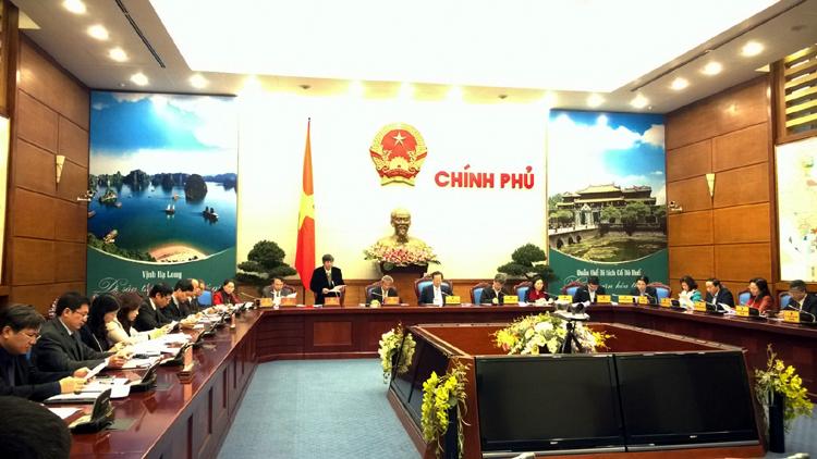 Quang cảnh buổi làm việc của Thủ tướng Chính phủ với Đoàn Chủ tịch TLĐLĐ Việt Nam