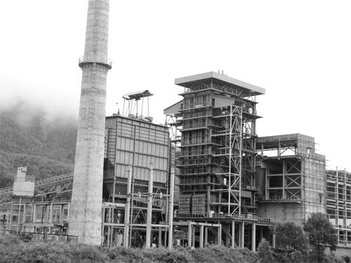 Nhà thầu Trung Quốc rút lui nên Nhà máy Nhiệt điện Nông Sơn phải ngừng thi công trong thời gian dài Ảnh: HOÀNG DŨNG