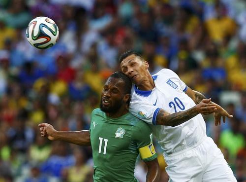 Drogba thi đấu cho Bờ Biển Ngà ở World Cup 2014