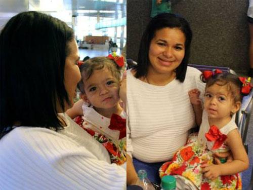 Ana Paula và mẹ