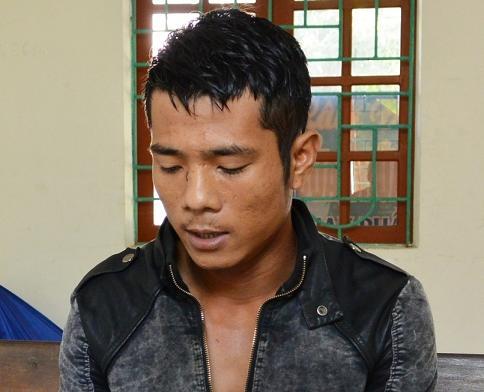 Đối tượng Trần Văn Vương tai cơ quan công an.