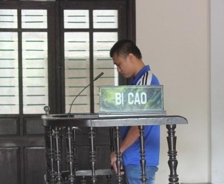 Bị cáo Xin tại phiên tòa (ảnh Hải Nguyễn)