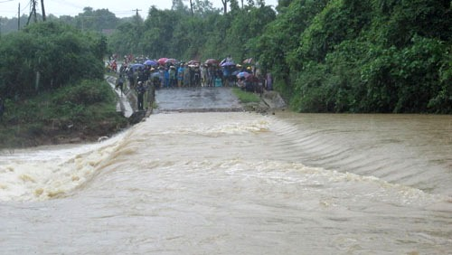 Tràn Khe Ang, nơi đã xảy ra nhiều vụ nước cuốn trôi người vào mùa mưa