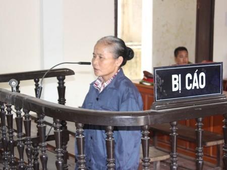 Bị cáo Liên tại phiên tòa (ảnh Lê Quết)