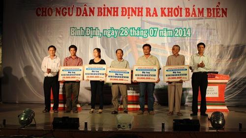 Ngư dân Bình Định được hỗ trợ từ chương trình Nghĩa tình Hoàng Sa, Trường Sa