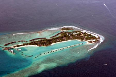 Một đảo san hô của Maldives. Ảnh: Tân Hoa xã
