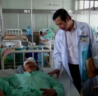 Ông Trương Triệu Lương đang được điều trị tại bệnh viện Chợ Rẫy