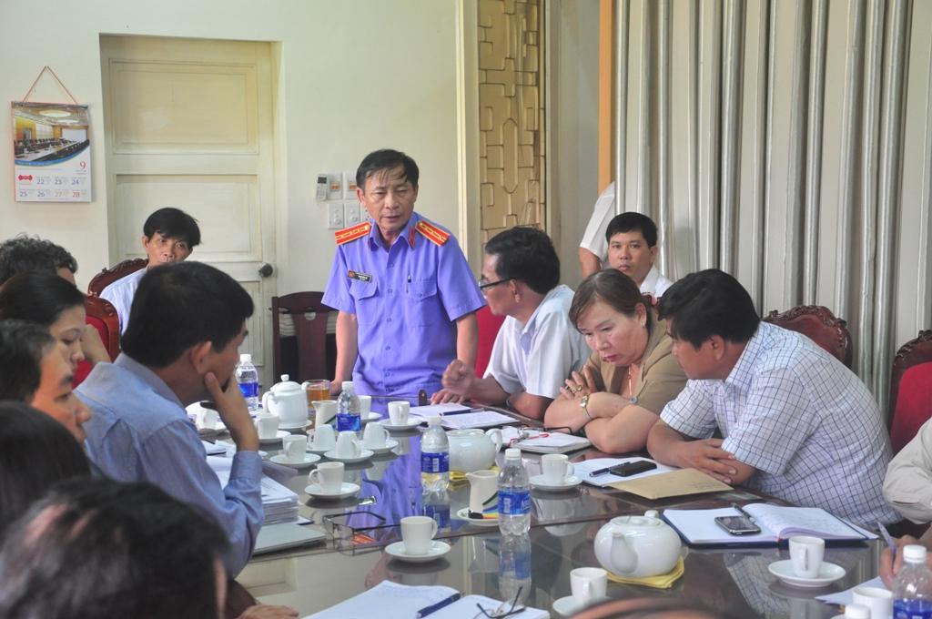TP Hội An và các ngành liên quan họp khẩn để giải quyết việc thi hành án tại khách sạn River Beach Resort  Ảnh: Tân Bính